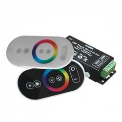 Controleur + Télécommande Blanche/Noire pour rubans RGB 3x6A