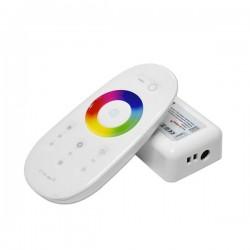 Controleur + Télécommande Blanche pour rubans RGBW 4x6A