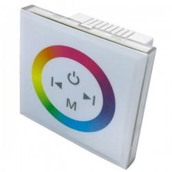 Variateur mural blanc à encastrer - RGB 3x4A
