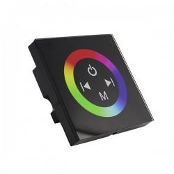Variateur mural noir à encastrer - RGB 3x4A