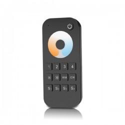 Télécommande Noire pour blanc ajustable 3000-6000°K 4 zones RF 2.4G