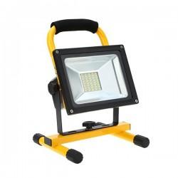 Projecteur LED Portable Rechargeable 10/30W 800/1600Lm + chargeur voiture
