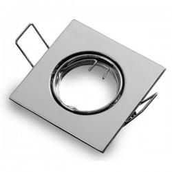 Collerette Carrée Chrome Non Ajustable 83x83x30mm - pack de 2 pièces