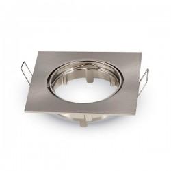 Collerette Carrée Inox Ajustable 45° 83x83x29mm - pack de 2 pièces