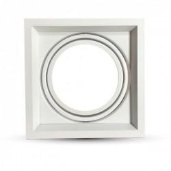 Collerette Carrée Blanc Ajustable 45° 180x180x42mm - pack de 2 pièces
