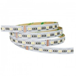 TUNABLE RGBW - Led Strip 24V - 5050 - Etanche IP20 - 60 Smd/m 9.5w/m RGBW