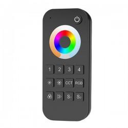 Télécommande Noire pour RGB + CCT 3000-6000°K 4 zones RF 2.4G