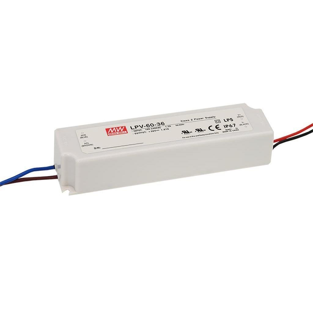 Alimentation Led Mean Well 36Vdc 60W IP67