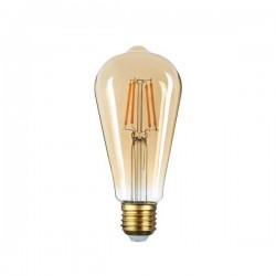 Source Filament LED Doré 4/6/8W 400/540/700Lm E27 ST64