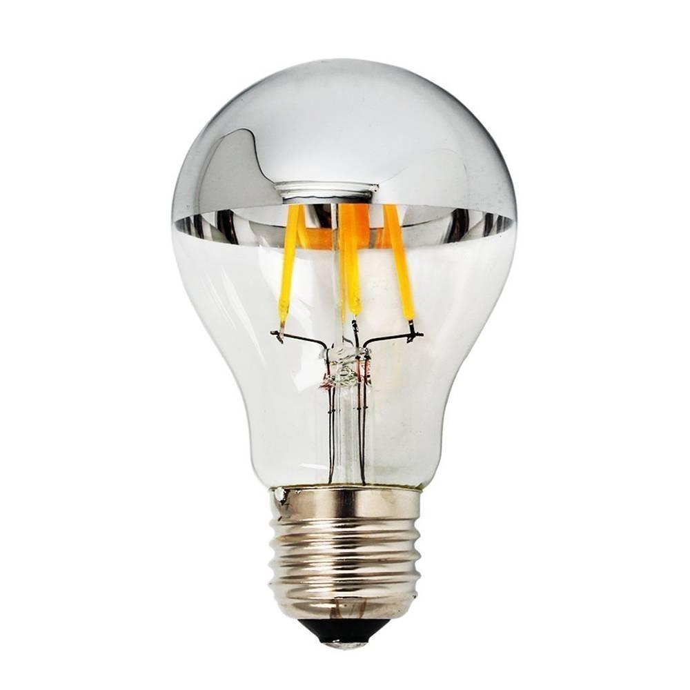 Ampoule Led Filament A60 | E27 Ø60x105mm 2700K CRI80 180° 175~265Vac | Corps verre clair IP20 reflecteur à choix